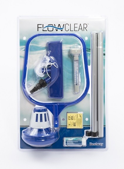 Bestway Flowcare Poolpflege Komplett-Set mit Venturi Sauger
