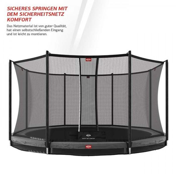 Berg Trampolin Favorit InGround + Sicherheitsnetz Comfort
