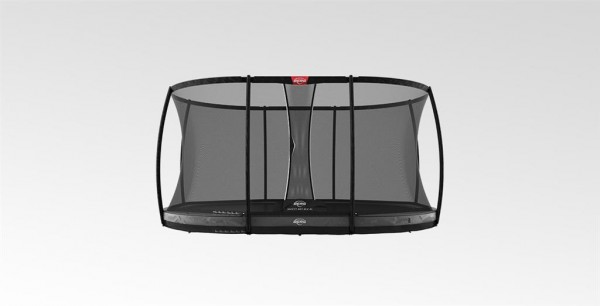 Berg Trampolin Grand Elite InGround 520 Grey mit Sicherheitsnetz