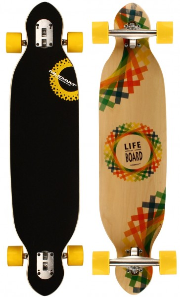 "Nijdam Longboard 38"" Drop-through Criss Cross 520T-GRB"