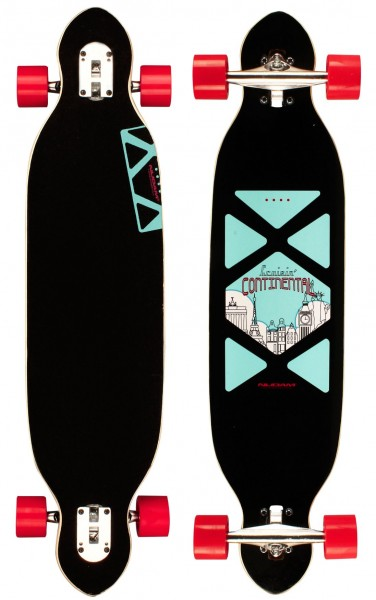 "Nijdam Longboard 38"" Drop-through Criss Cross 520T-ZBR"