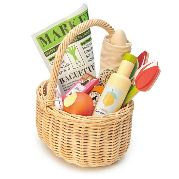 Tender Leaf Marktkorb mit Lebensmitteln und Zeitung