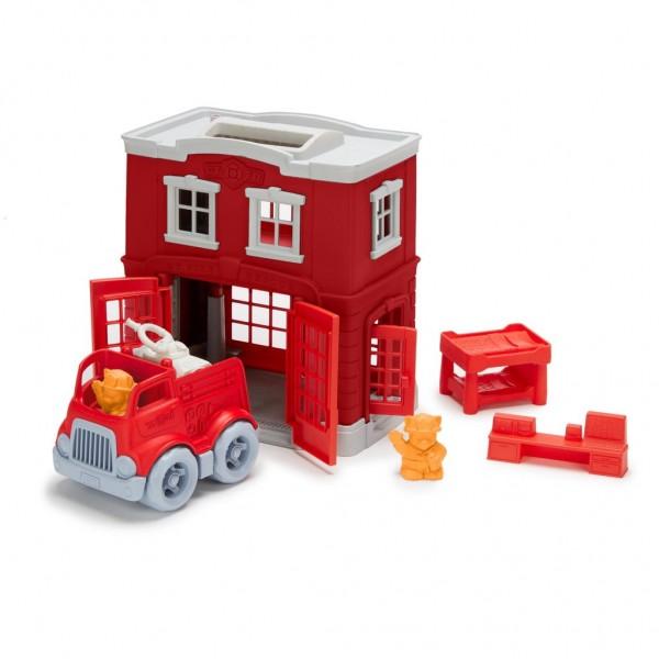Green Toys Feuerwache Spielset 8 Teile