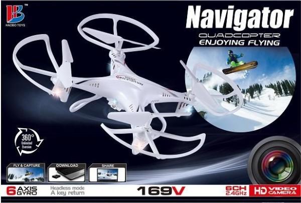 QUADROCOPTER Navigator 169V Drohne mit Kamera, 6 Achsen-GYRO rot