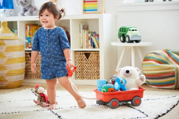 Green Toys kleiner Bollerwagen zum Nachziehen