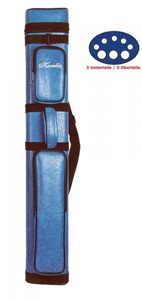 """Köcher """"KARELLA"""", für 3 Unterteile /5 Oberteile blau"""