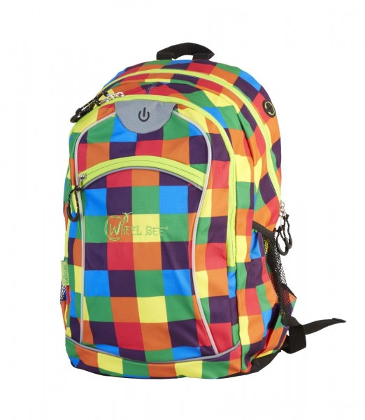 Wheel Bee Backpack NIGHT VISION orange/blue/green LED-green