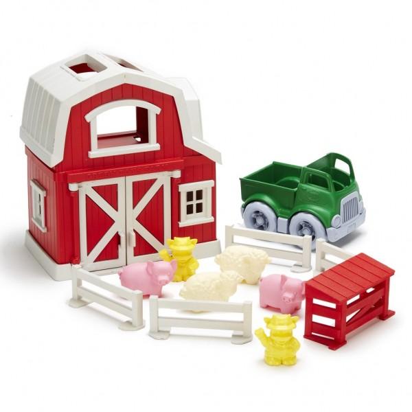 Green Toys Bauernhof Spielset 13 Teile