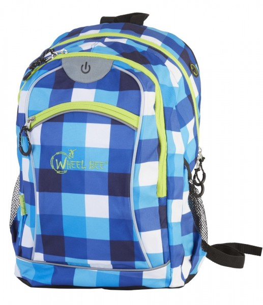 Wheel Bee Backpack NIGHT VISION blue/white LED-green