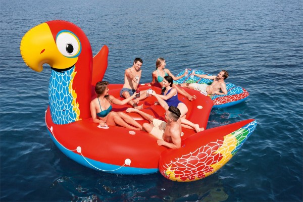 Bestway Float`n Fashion Riesen Papagei-Schwimminsel